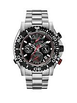 Black Dial Chronograph Stainless Steel Mens Watch