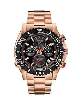 bulova-black-dial-chronograph-rose-gold-stainle