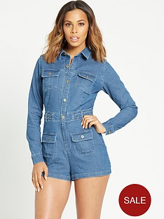 rochelle-humes-denim-playsuit