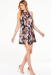 v-by-very-printed-ruffle-halterneck-dress
