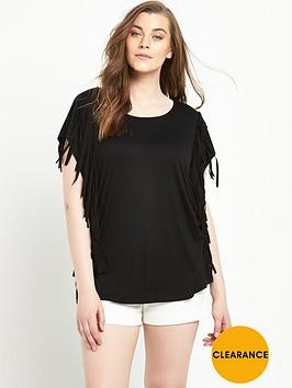 so-fabulous-fringe-side-t-shirt-black
