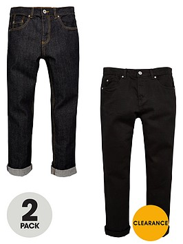 v-by-very-boys-slim-fit-jeans-in-black-and-indigo-2-pack