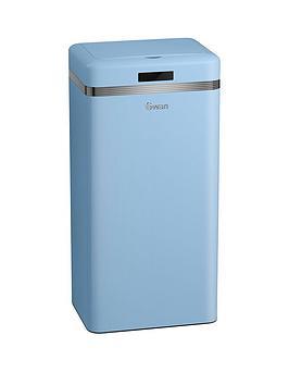 swan-retro-45-litre-square-sensor-bin-in-blue