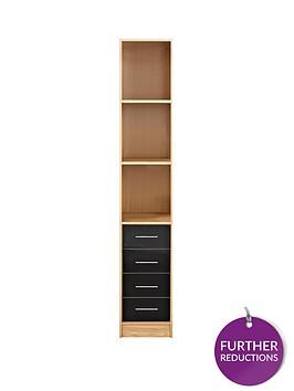 kidspace-ohio-4-drawer-display-shelf-unit-black-pink