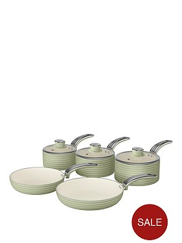 swan-retro-5-piece-pan-set-green