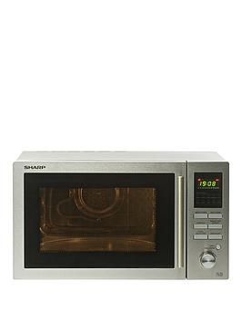 sharp-r82stma-25l-combinbspmicrowave-stainless-steel