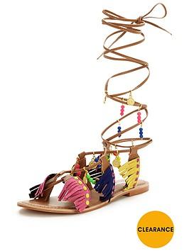 glamorous-fringed-tie-up-flat-sandalnbsp