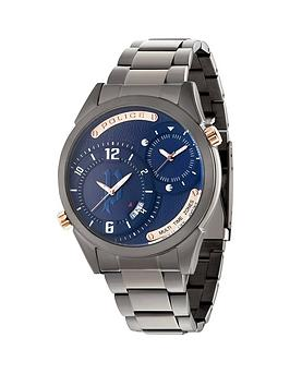 police-police-blue-dial-gun-stainless-steel-bracelet-mens-watch
