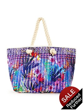 v-by-very-tropical-floral-print-beach-bag