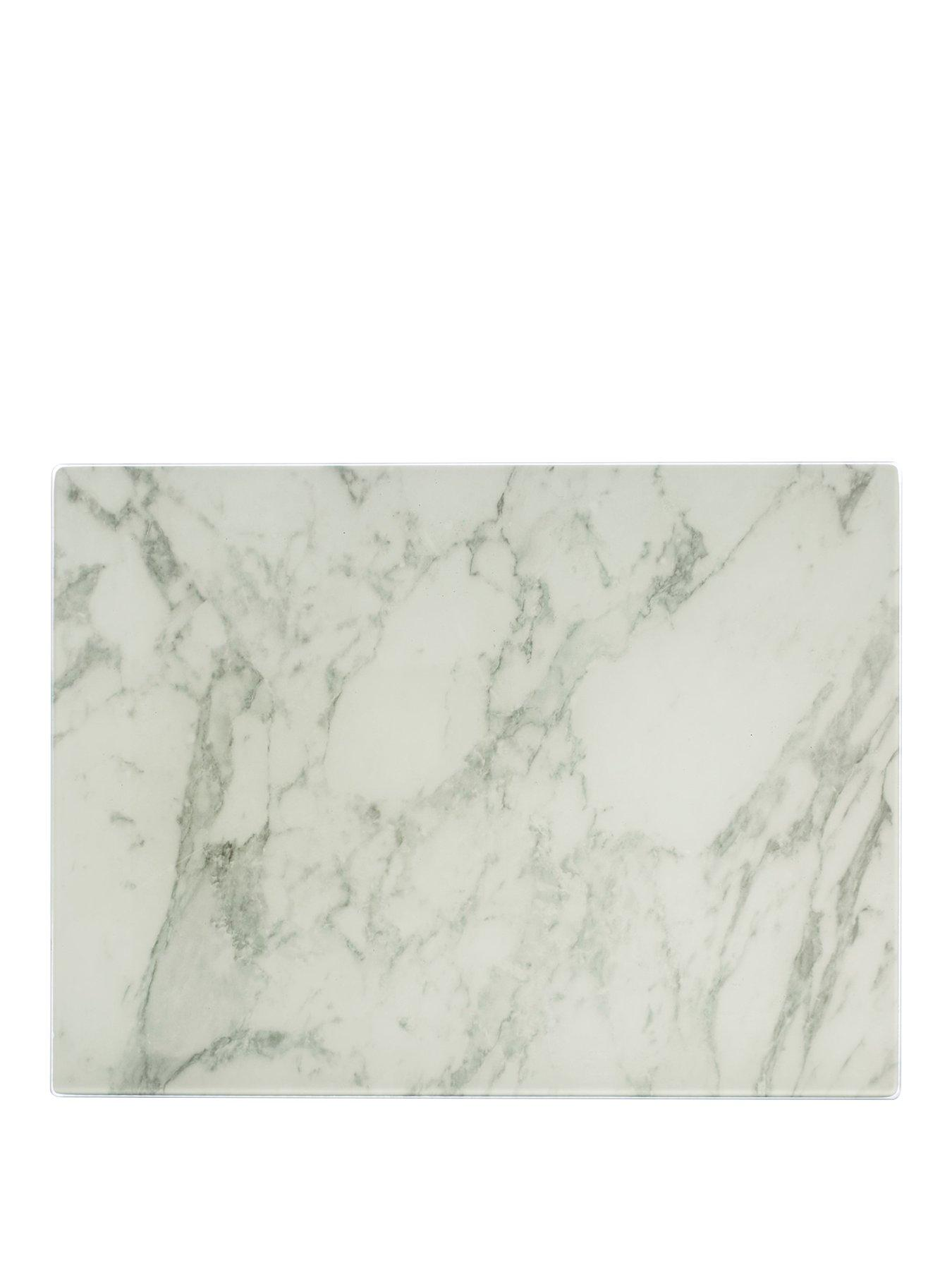 Square Cream Glass Worktop Saver 40 x 40cm
