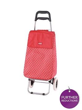 sabichi-sabichi-red-amp-white-spot-2-wheel-trolley