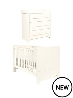 mamas-papas-haxby-cot-bed-and-dresser-ivory