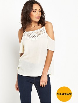 v-by-very-crochet-strappy-cold-shoulder-top
