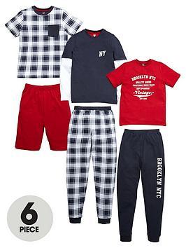 v-by-very-boys-brooklyn-pyjama-set-6-piece