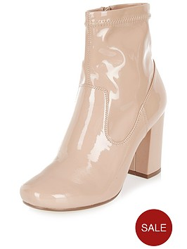 river-island-patent-smart-ankle-bootsnbsp