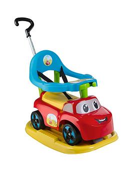smoby-4-in-1-ride-on-car-red