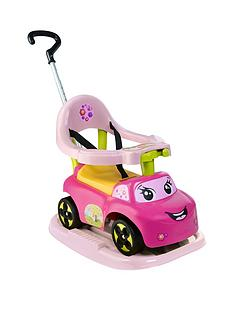 smoby-4-in-1-ride-on-car-pink