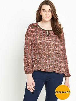 v-by-very-curve-print-shirred-hem-gypsy-blouse-14-28
