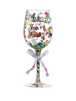 lolita-mum-youre-amazing-standard-wine-glass