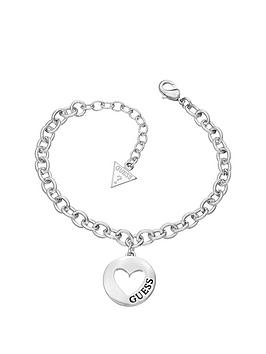 guess-g-girl-rhodium-plated-heart-drop-charm-bracelet
