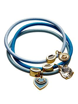 juicy-couture-juicy-couture-charm-drop-set-of-three-blue-hair-elastics