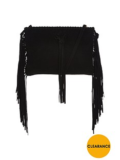 miss-selfridge-leather-fringe-crossbody