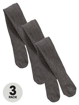 top-class-girls-flat-knit-school-tights-3-pack-grey