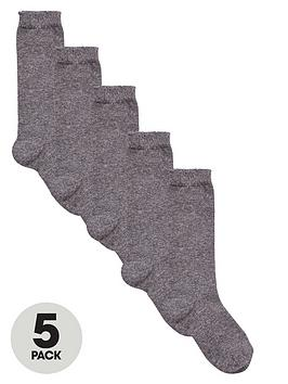 v-by-very-girls-knee-high-socks-5-pack-grey