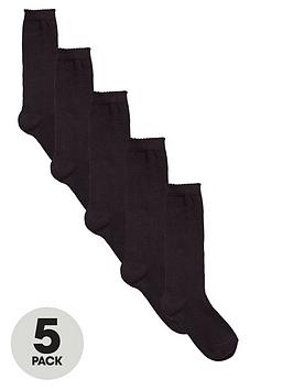 v-by-very-girls-black-knee-high-socks-5-pack