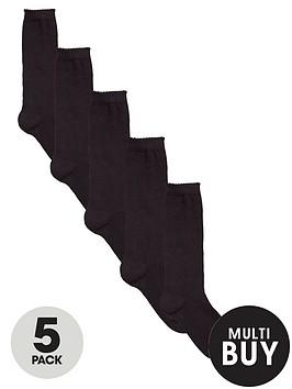 v-by-very-girls-black-knee-high-socks-5-pack