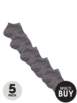 v-by-very-unisex-grey-trainer-liner-socks-5-pack