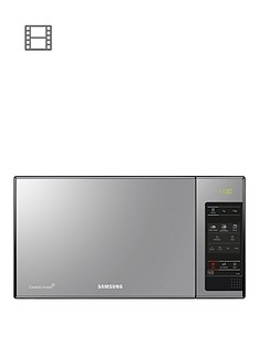 samsung-me83xxeunbsp23-litre-microwave-with-ceramic-enamel-interior--nbspblack-with-mirror-door