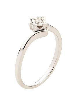 love-diamond-9-carat-white-gold-5-point-diamond-illusion-twist-four-claw-solitaire-ring
