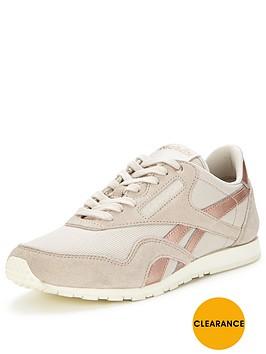 reebok-reebok-classic-slim-metallic-trainer-whitegold