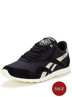 reebok-classic-nylon-slim-metallic-fashion-trainer-blacksilver