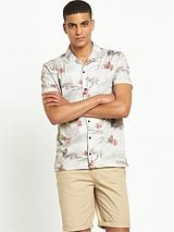 Hawaiian Print Jersey Shirt