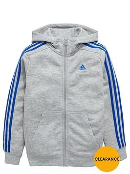 adidas-older-boys-ess-3-stripe-fz-hoody