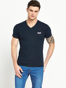 superdry-orange-label-v-neck-t-shirt