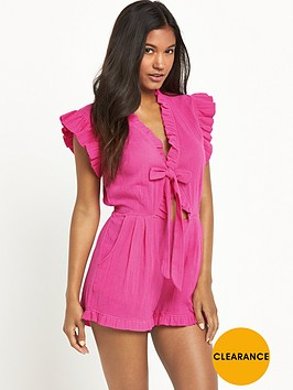 v-by-very-tie-front-beach-playsuit-pink