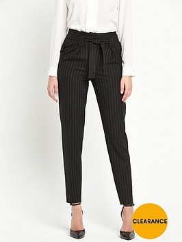 v-by-very-pinstripe-paper-bag-waist-trouser