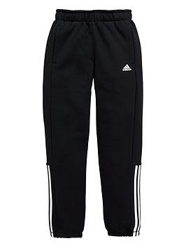 adidas-older-boys-3-stripe-fleece-pant