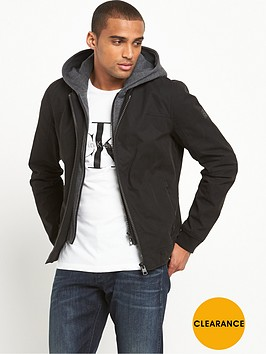 calvin-klein-hooded-mix-media-bomber-jacket