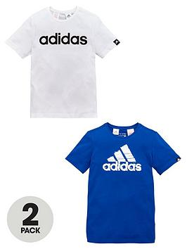 adidas-older-boys-pk-2-logo-tees