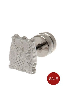 manchester-city-stainless-steel-crest-stud-earring