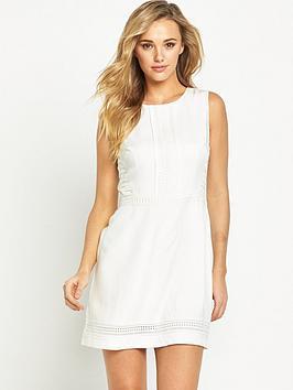 oasis-lace-trim-dress-white