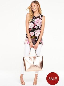 v-by-very-floral-dipped-side-sleeveless-blousenbsp