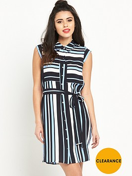miss-selfridge-stripe-shirt-dressnbsp