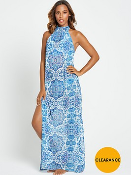 rochelle-humes-printed-sheer-beach-maxi-dress