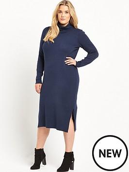 junarose-curve-funnel-neck-knitted-dress