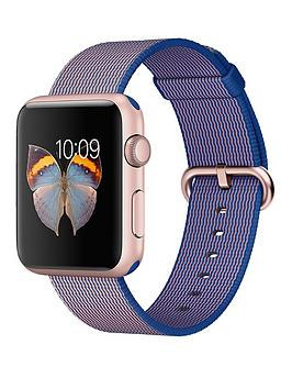 apple-watch-sportnbsp42mm-rose-gold-aluminium-case-with-royal-blue-woven-nylon